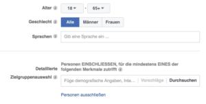 Lokale Facebook-Werbung: Targeting