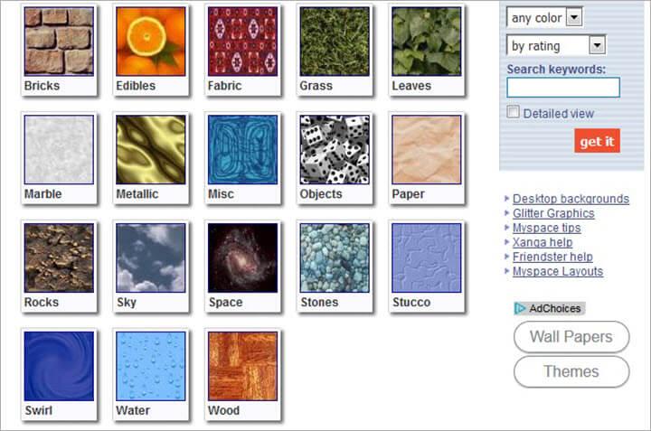 Kostenlose Bilddatenbanken Backgrounds Archive