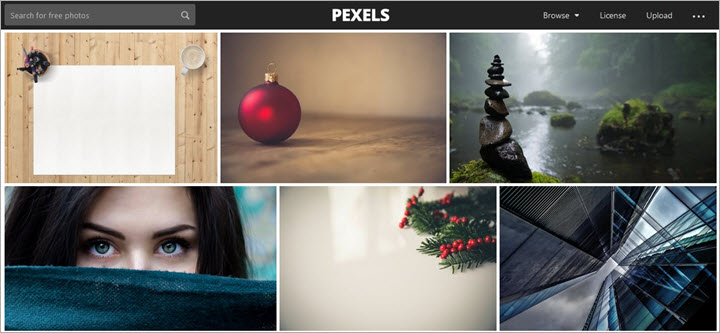 Kostenlose Bilddatenbanken Pexels