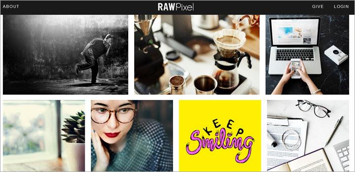 Kostenlose Bilddatenbanken Rawpixel