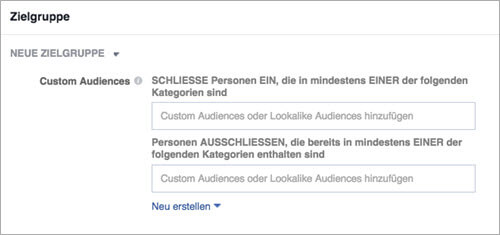 Facebook Custom Audiences verwenden