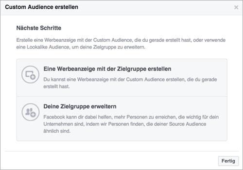 Facebook Custom Audiences Zielgruppe erweitern