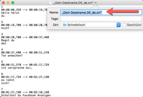 Dateinamen umbenennen