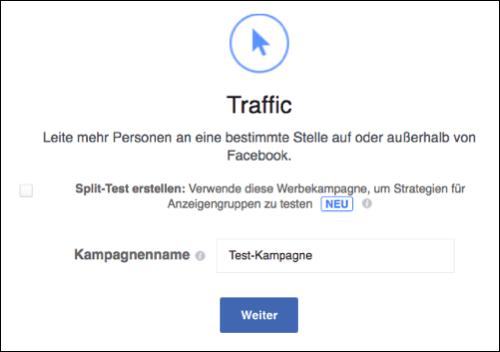 Facebook Anzeige