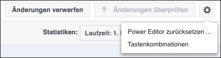 Facebook Einstellungen Tastenkombinationen