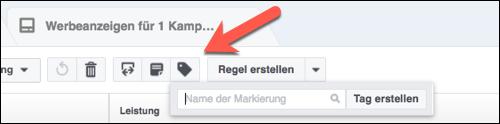 Facebook Tag erstellen