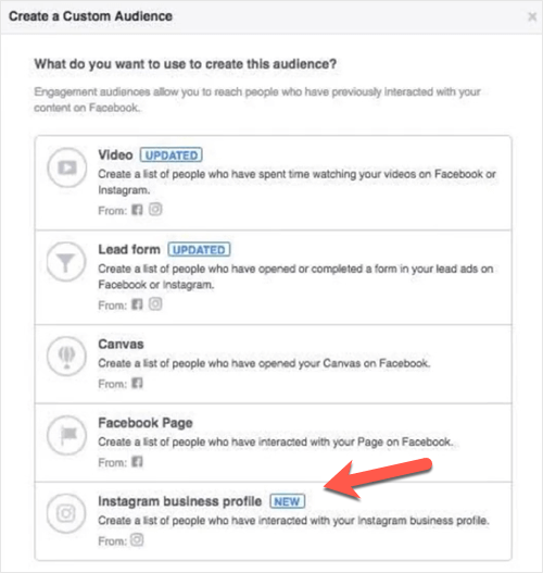 Instagram Custom Audience