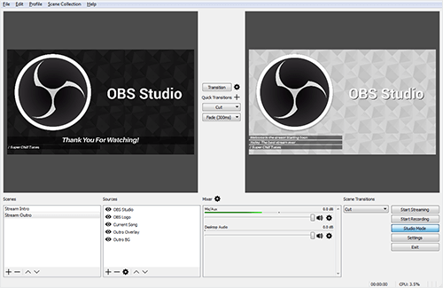 OBS Studio Screenshot
