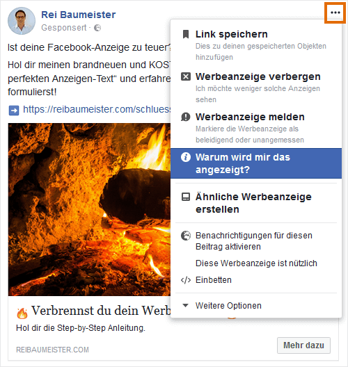 Facebook warum angezeigt