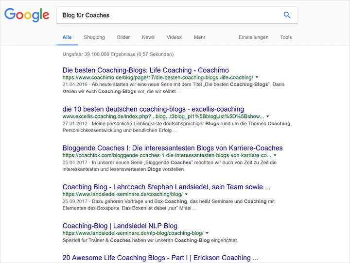 Interessen-Suche Google