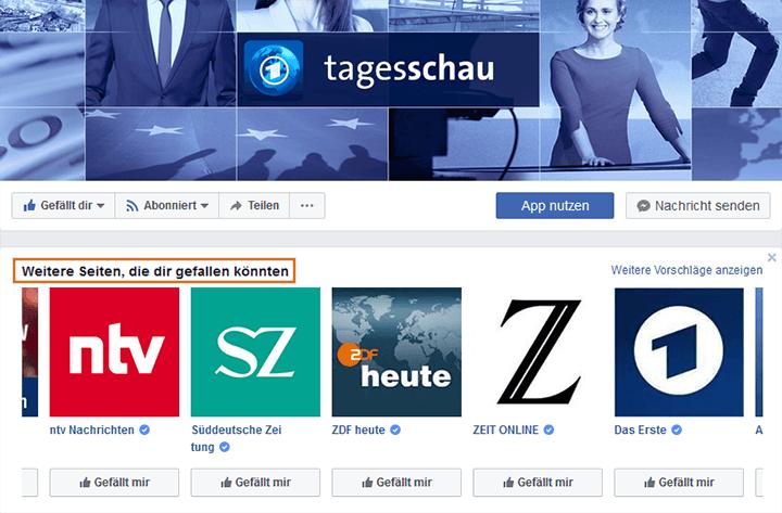 Facebook Like-Vorschläge