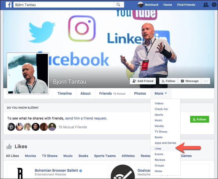 Facebook Likes anzeigen