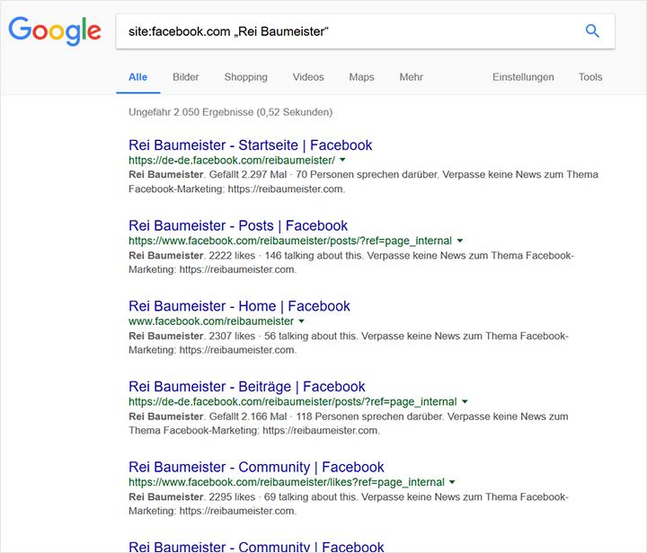Post-Suche auf Google