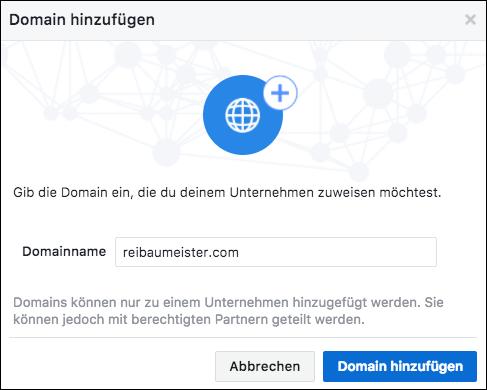 Domain hinzufügen