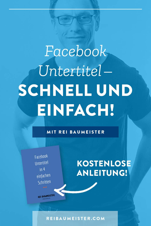 Facebook Untertitel - Schnell und einfach!